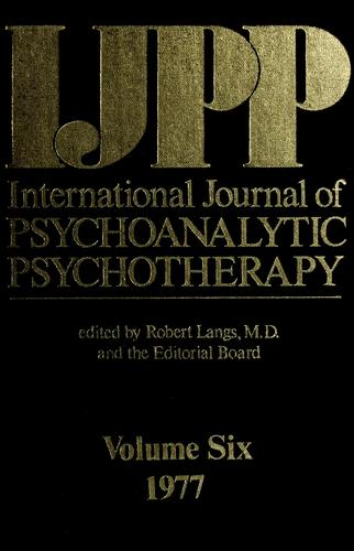 International journal of psychoanalytic psychotherapy by