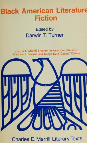 Black American literature by edited by Darwin T. Turner.