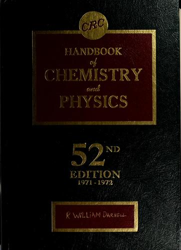 CRC handbook of chemistry and physics. 58th ed.-   (1977-1978) - by