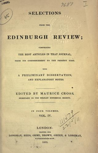 Selections from the Edinburgh review by