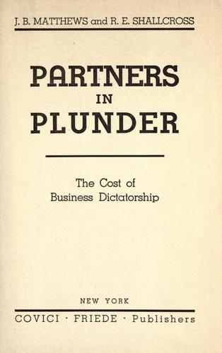 Partners in plunder