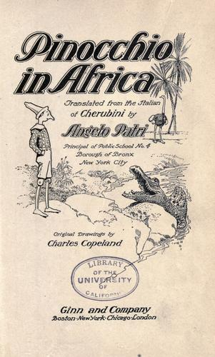 Pinocchio in Africa by