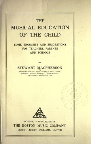 The musical education of the child