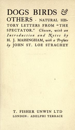 Dogs, birds & others by H. J. Massingham