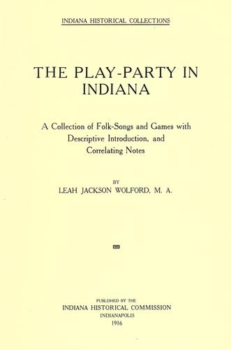 The play-party in Indiana