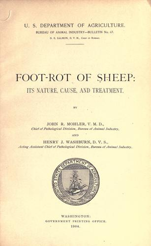 Foot-rot of sheep by John R. Mohler