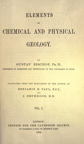 Elements of chemical and physical geology