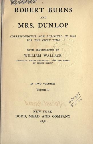 Robert Burns and Mrs. Dunlop by Robert Burns