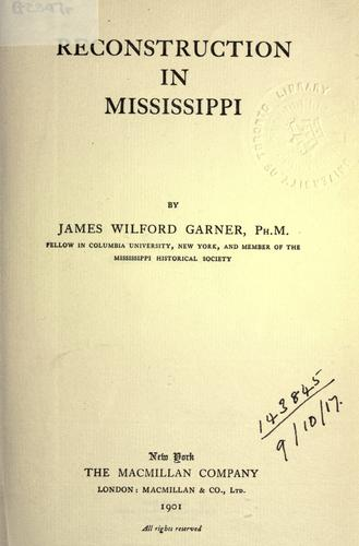 Reconstruction in Mississippi.