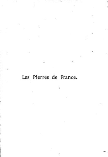 Les pierres de France by Henri Focillon
