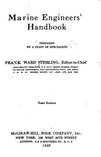 Marine engineers' handbook by Frank W. Sterling