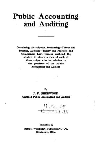 Public accounting and auditing…