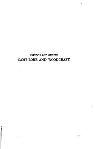 ...The American boys' handybook of camp-lore and woodcraft by Daniel Carter Beard