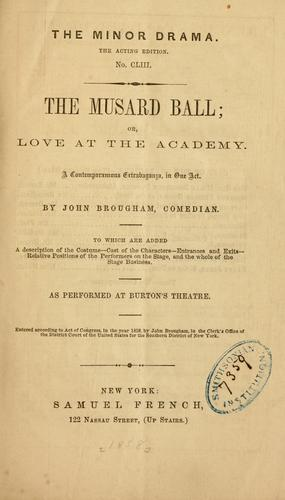 The Musard ball by John Brougham