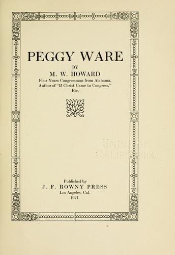 Peggy Ware by Howard, M. W.