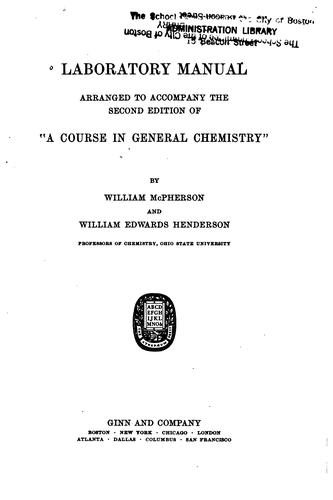 Laboratory manual by McPherson, William