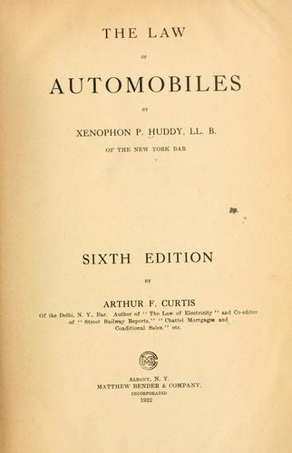 The law of automobiles