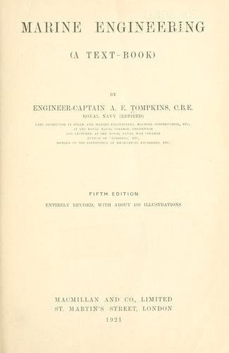 Marine engineering (a text-book) by Albert Edward Tompkins