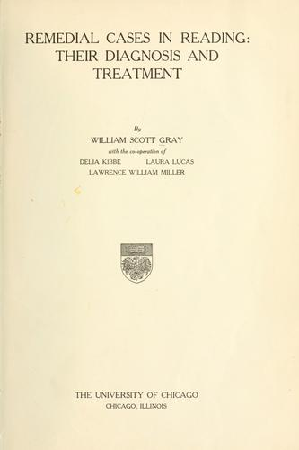 Remedial cases in reading by William S. Gray