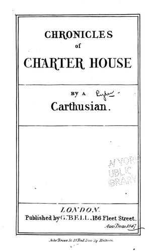 Chronicles of Charter-house by William John Duff Roper