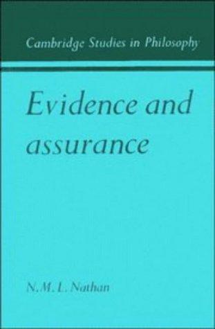 Evidence and assurance by N. M. L. Nathan
