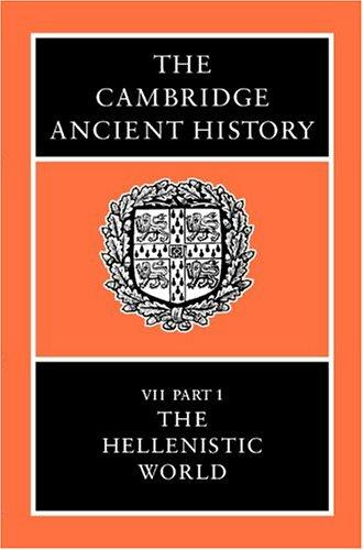 The Cambridge Ancient History, Volume 7, Part 1 by
