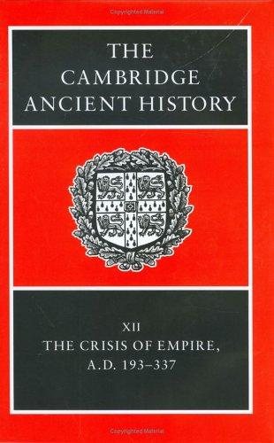 The Cambridge Ancient History Volume 12 by