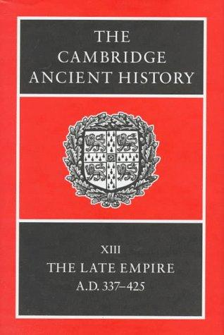 The Cambridge Ancient History Volume 13 by