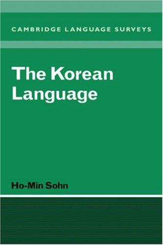 The Korean language by Ho-min Sohn