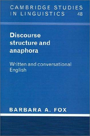 Discourse Structure and Anaphora