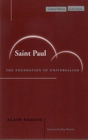 Saint Paul by Alain Badiou