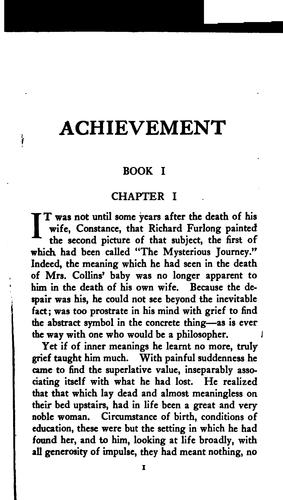 Achievement by Ernest Temple Thurston