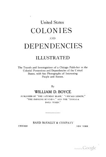 United States colonies and dependencies, illustrated by William Dickson Boyce