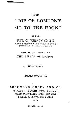 The Bishop of London's visit ot the front by Guy Vernon Smith
