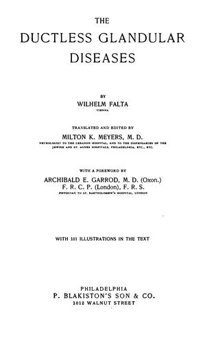 The ductless glandular diseases by Wilhelm Falta