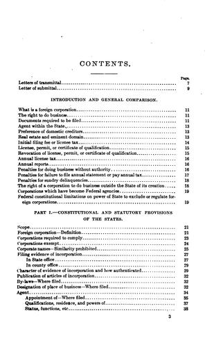 Report of the commissioner of corporations on state laws concerning foreign corporations by United States. Bureau of Corporations.