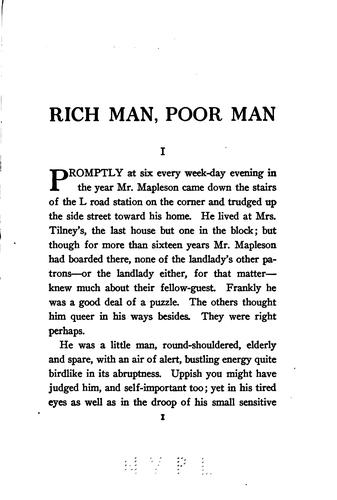 Rich man, poor man by Foster, Maximilian