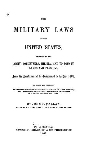 The military laws of the United States by United States
