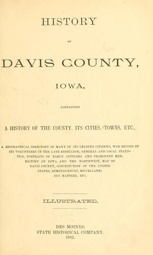 History of Davis County, Iowa by