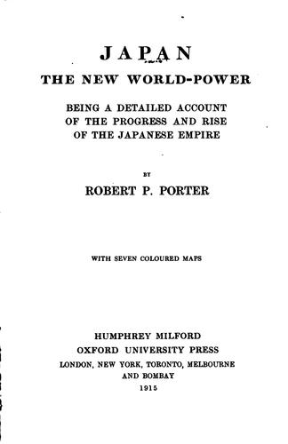 Japan, the new world-power