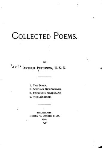 Collected poems by Peterson, Arthur
