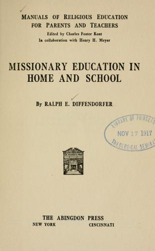 Missionary education in home and school